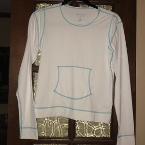 Athleta Swim - Athleta Swim Top long sleeve White and Turquoise